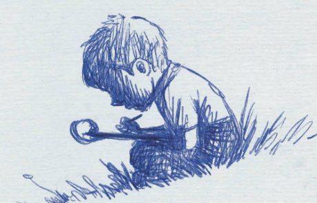 הילד הכותב, מאת יהונתן גפן